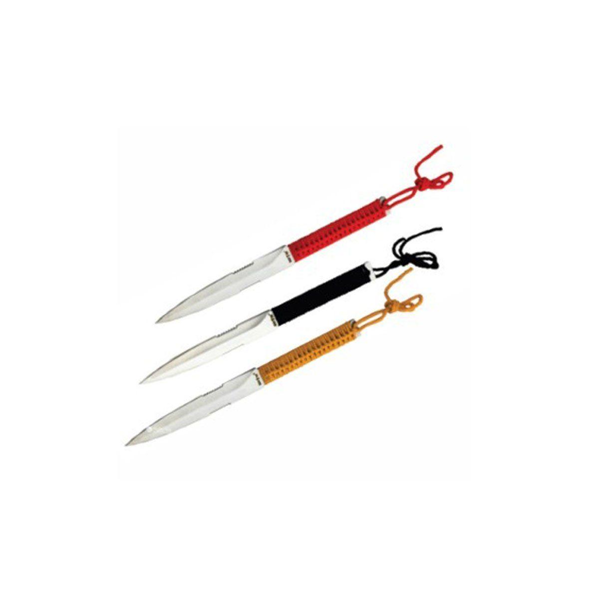 Kit Facas De Arremesso 11cm Inox c/ 3 facas