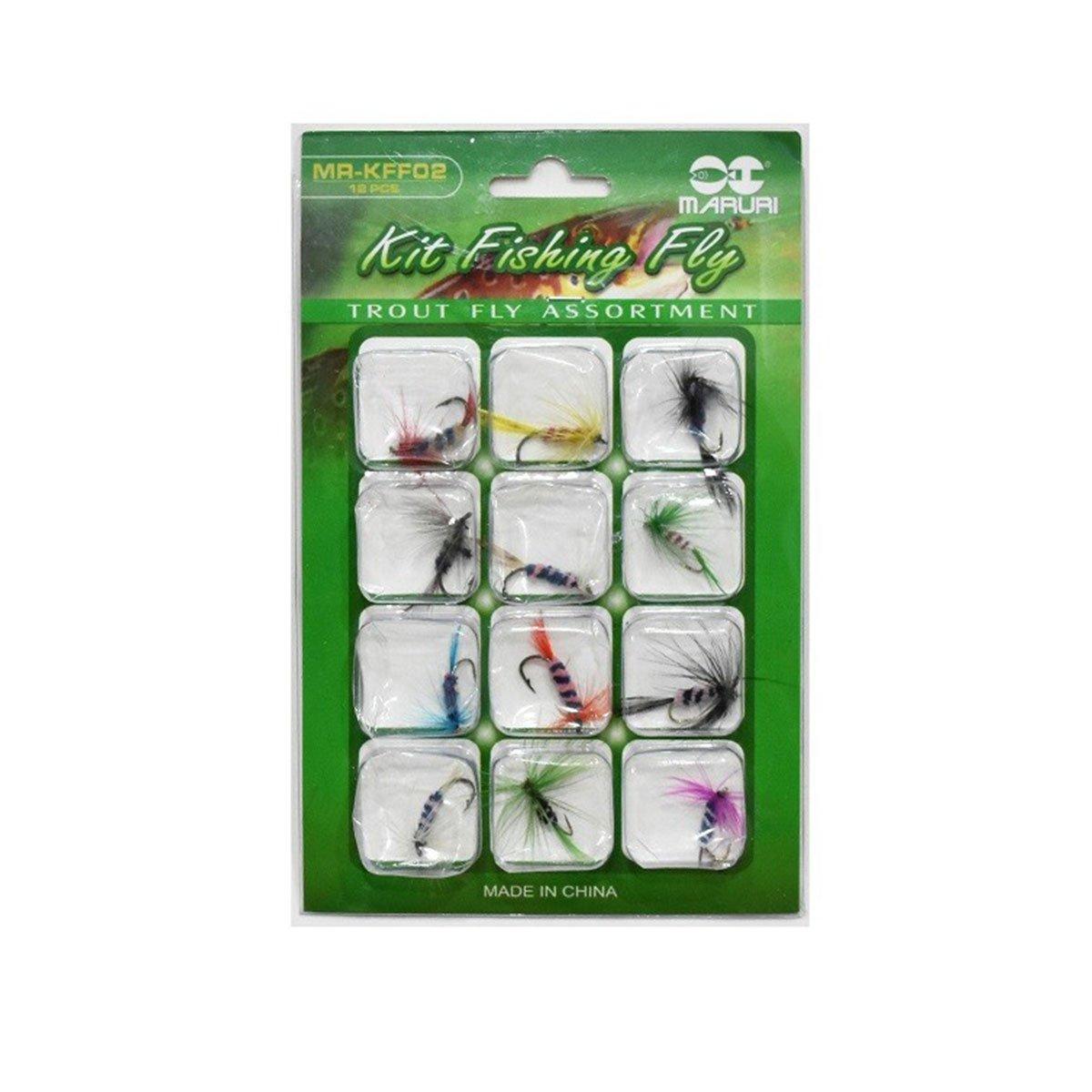 Kit iscas para fly Maruri KFF02 - 12 unidades