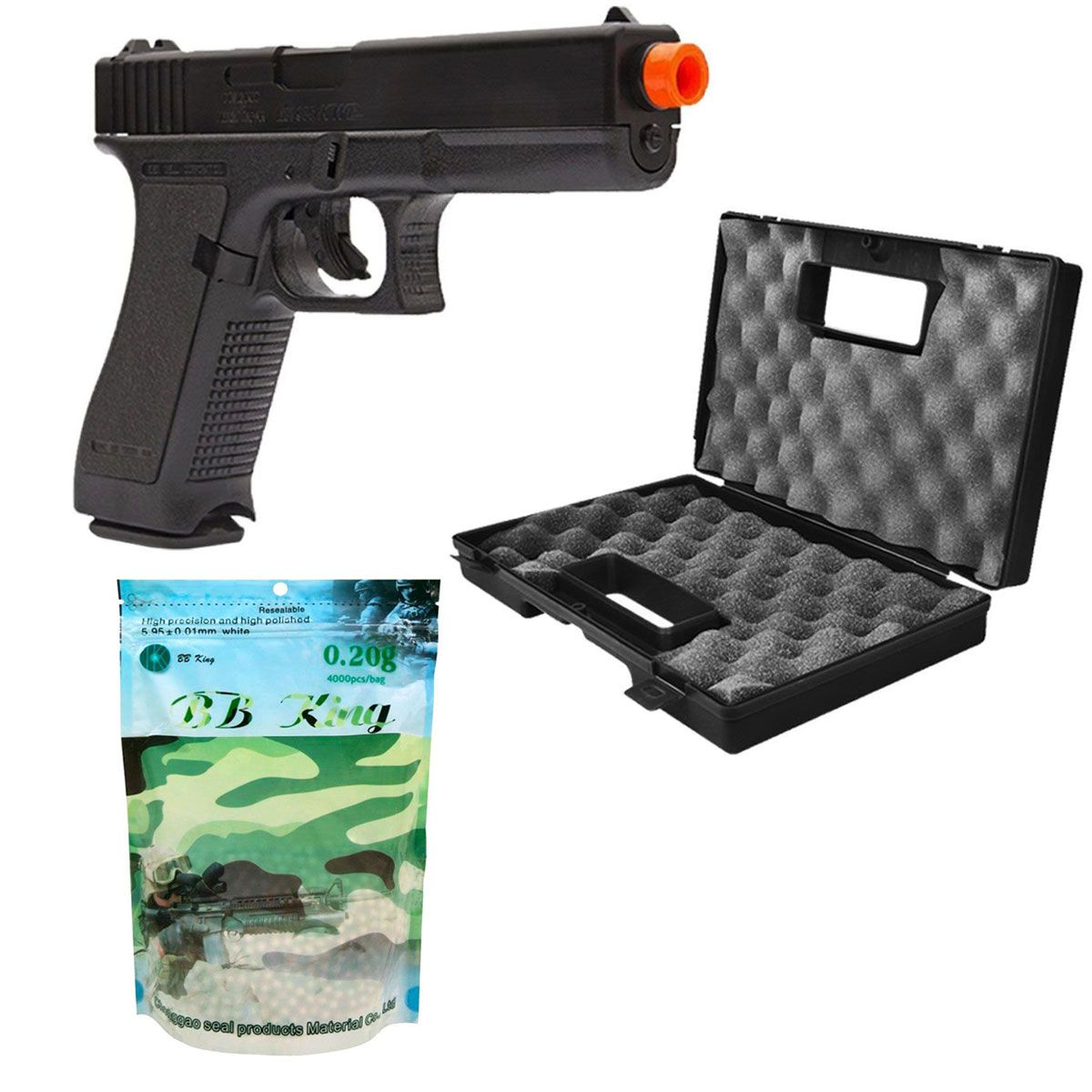 Kit Pistola Glock G7 Maleta + BB King 0,20g