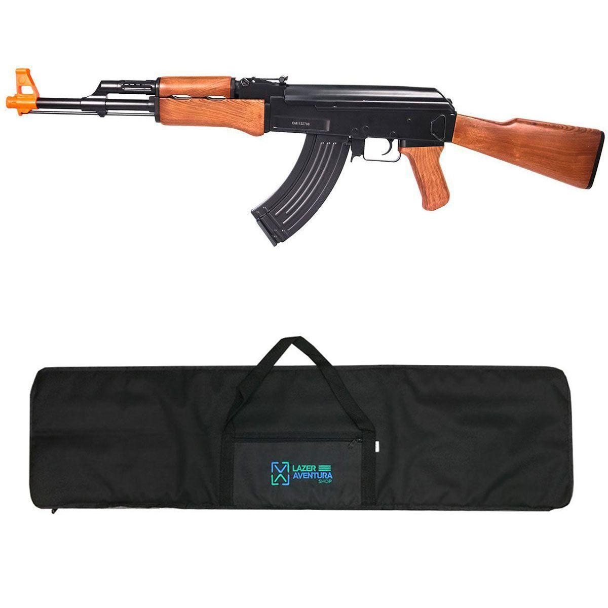 Kit Rifle Cyma AK47 + Capa Lazer e Aventura
