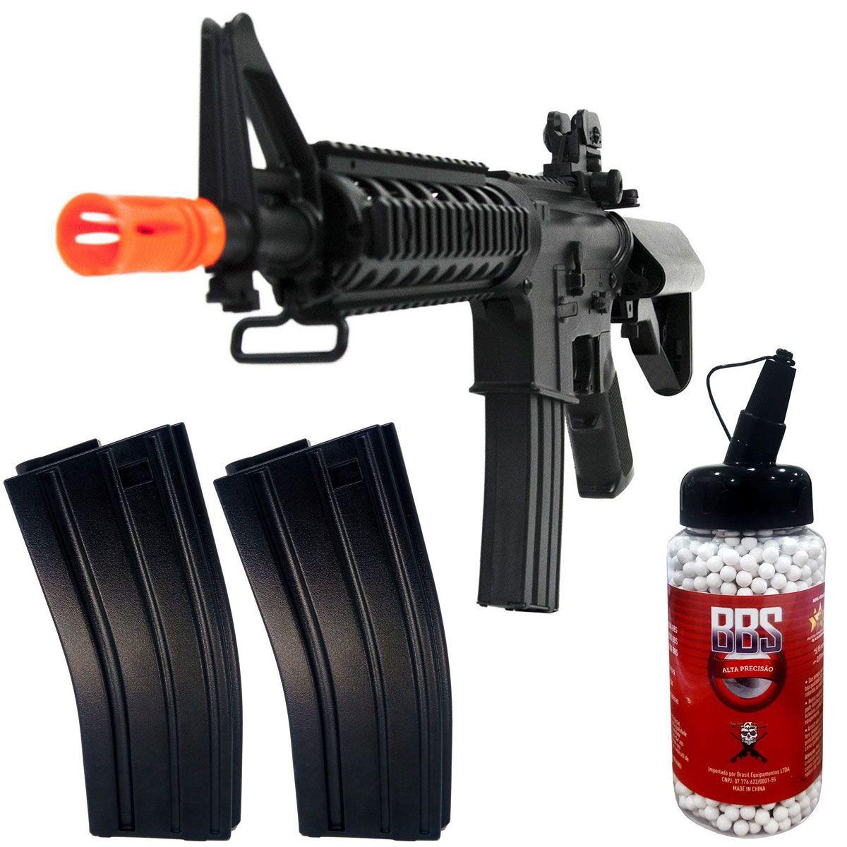 Kit Rifle Cyma + BB King 0,20g + 2 Magazine Extra