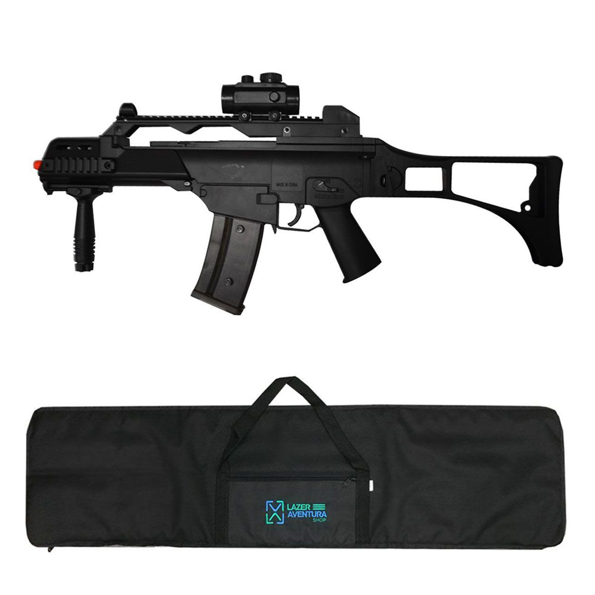 Kit Rifle Cyma G36 6mm + Capa Lazer e Aventura