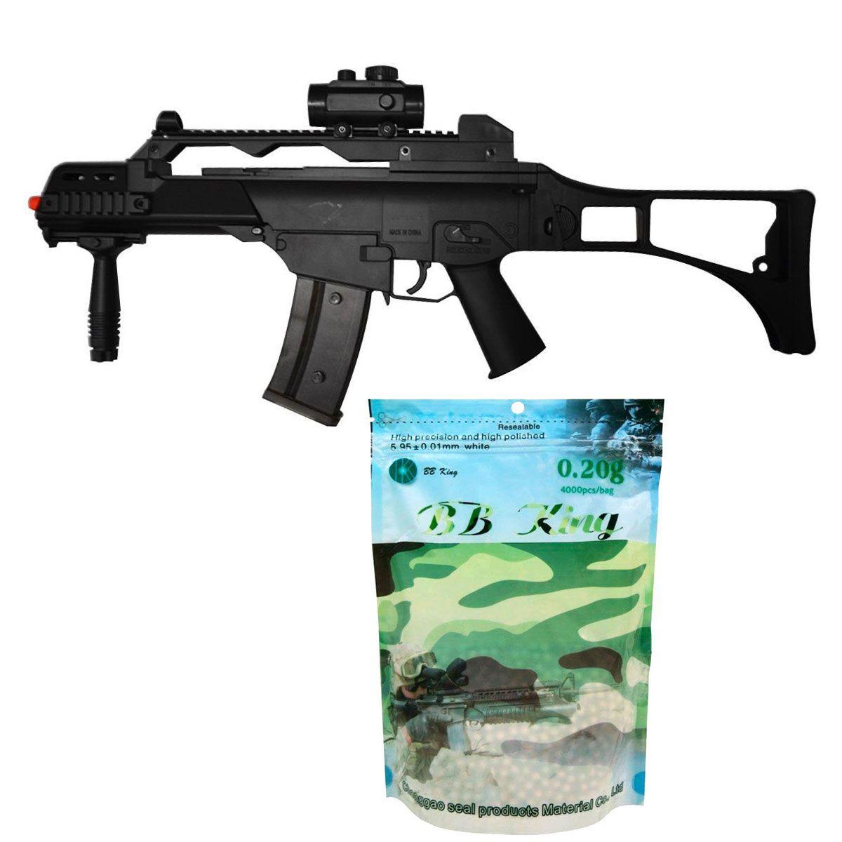 Kit Rifle Cyma G36 CM021 6mm + BB King 0,20g
