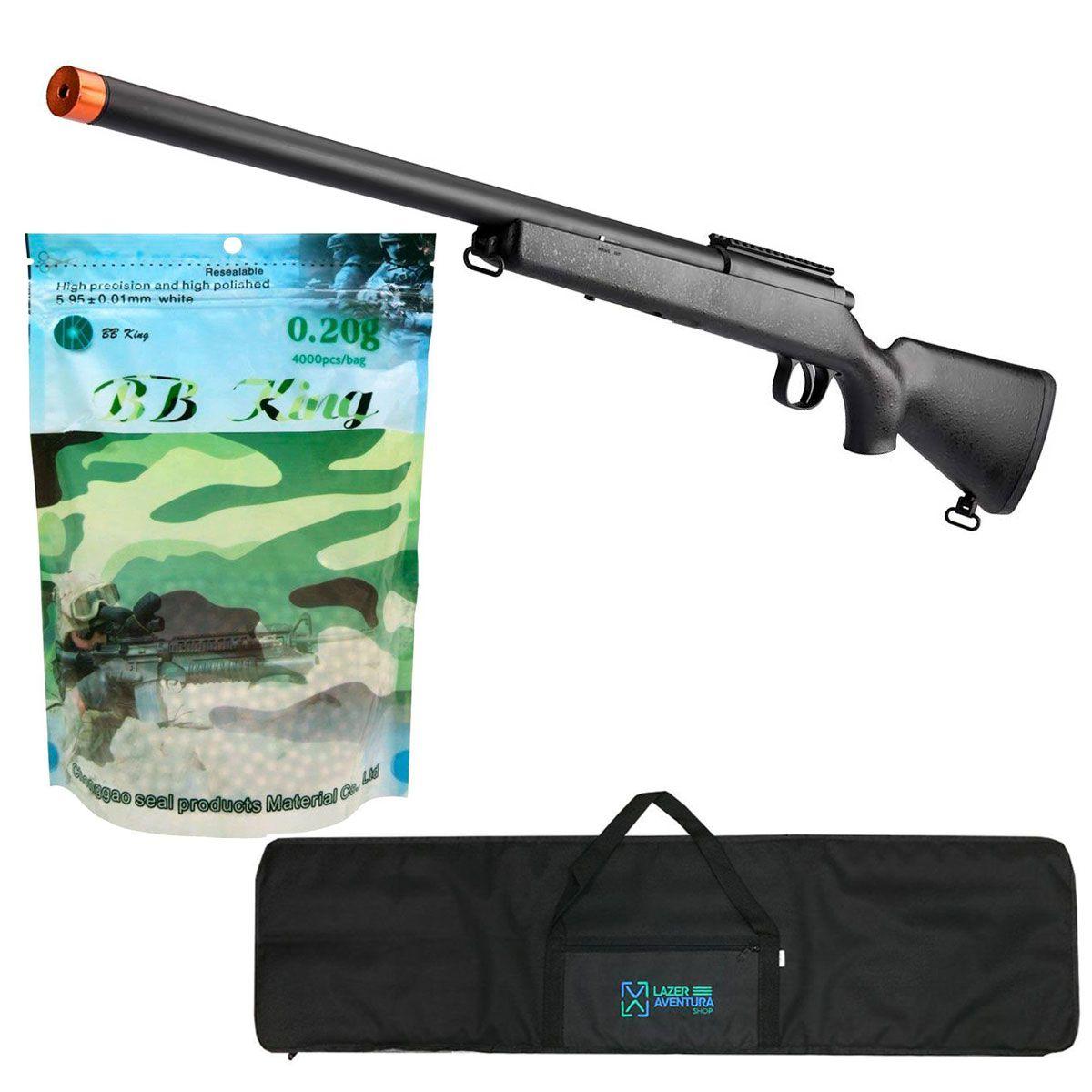 Kit Sniper Evo 6mm + BB King 0,20g + Capa Lazer e Aventura