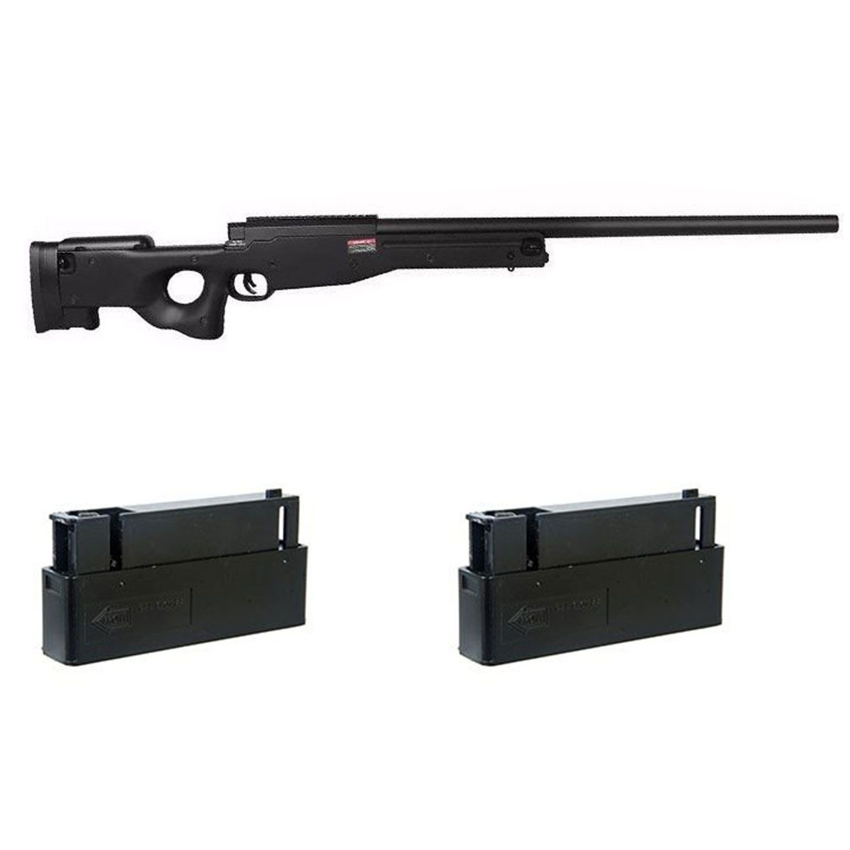 Kit Sniper Evo L96 Preto + 2 Magazine Extra