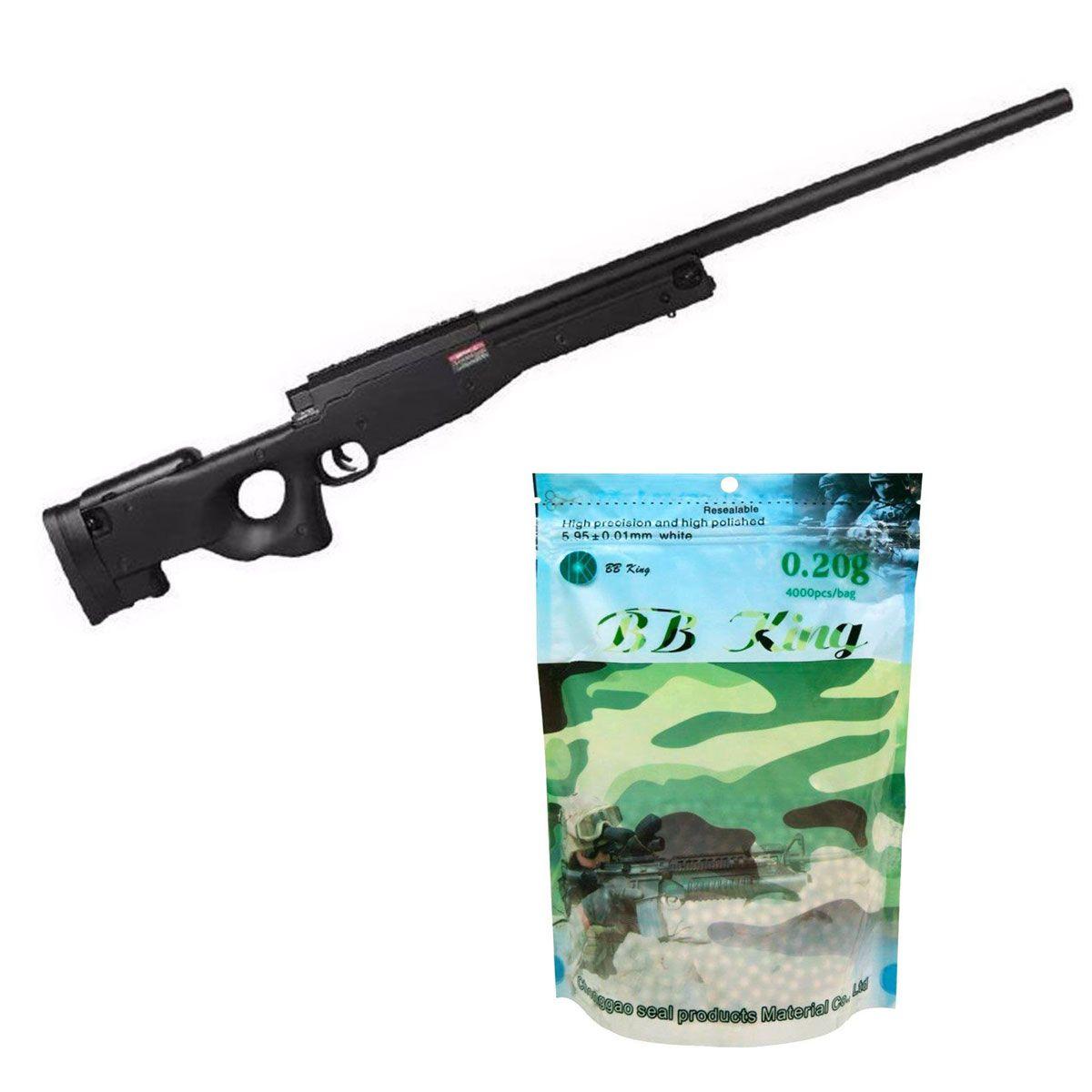 Kit Sniper Evo L96 Preto + BB King 0,20g