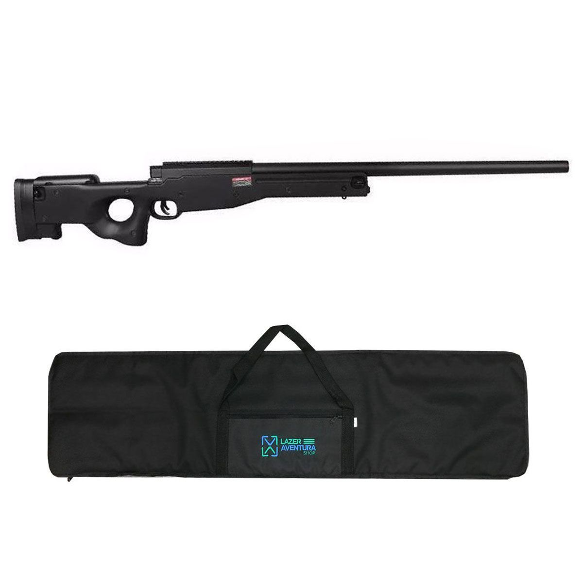 Kit Sniper Evo L96 Preto + Capa Lazer e Aventura