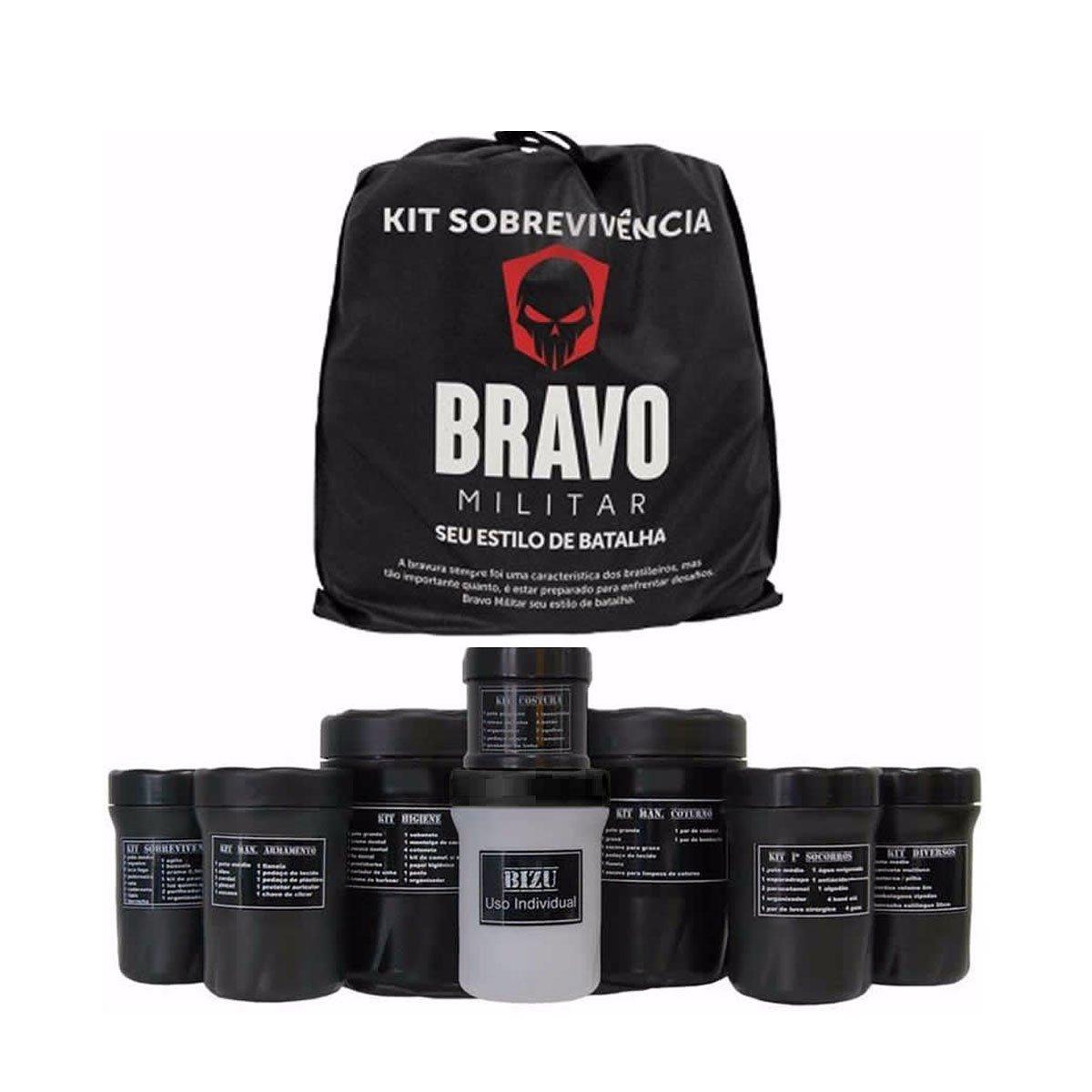 Kit Sobrevivencia Bravo Militar