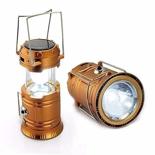 Lanterna/Lampião Solar Recarregável Alfacell ALL51129 - Dourado