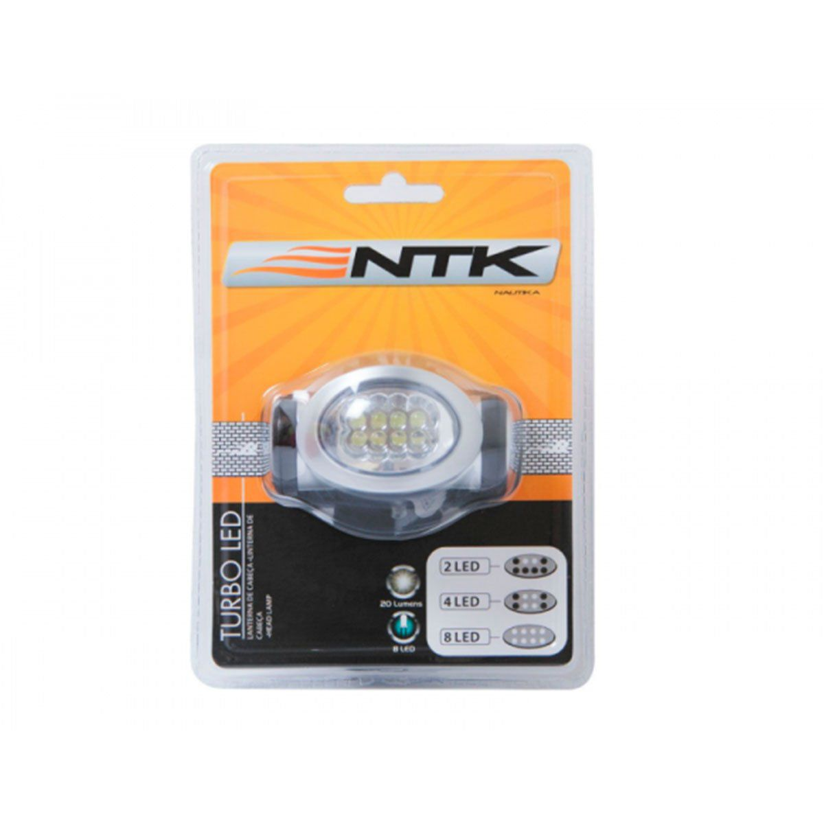Lanterna de Cabeça Nautika Turbo Led 20 Lumens