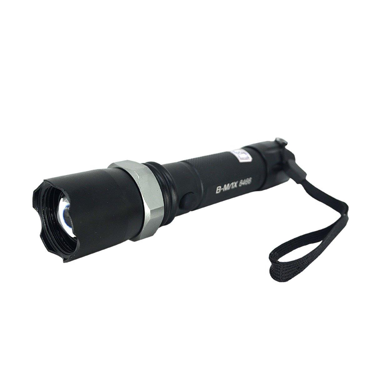 Lanterna B-Max Swat BM-8477 Recarregável C/ Sinalizador