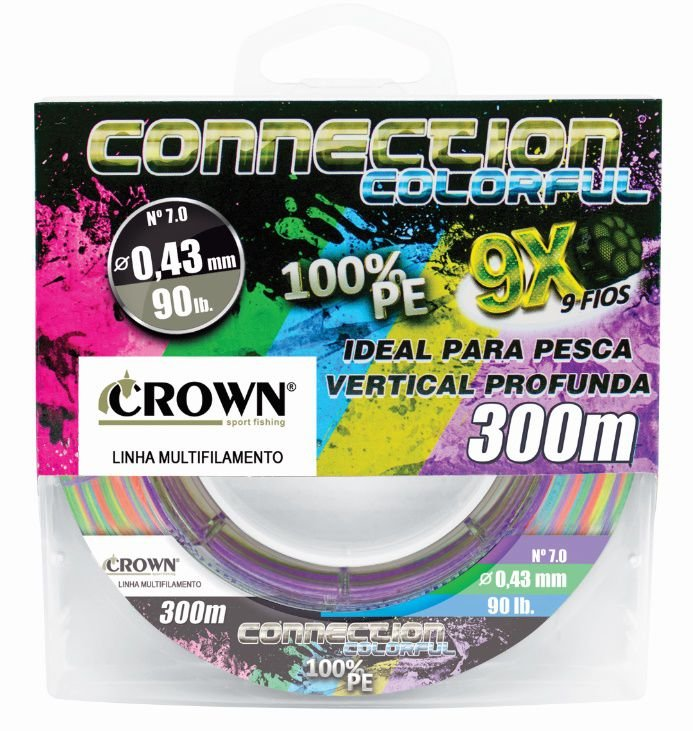 Linha Crown Multifilamento Connection Colorfull 9X 300m