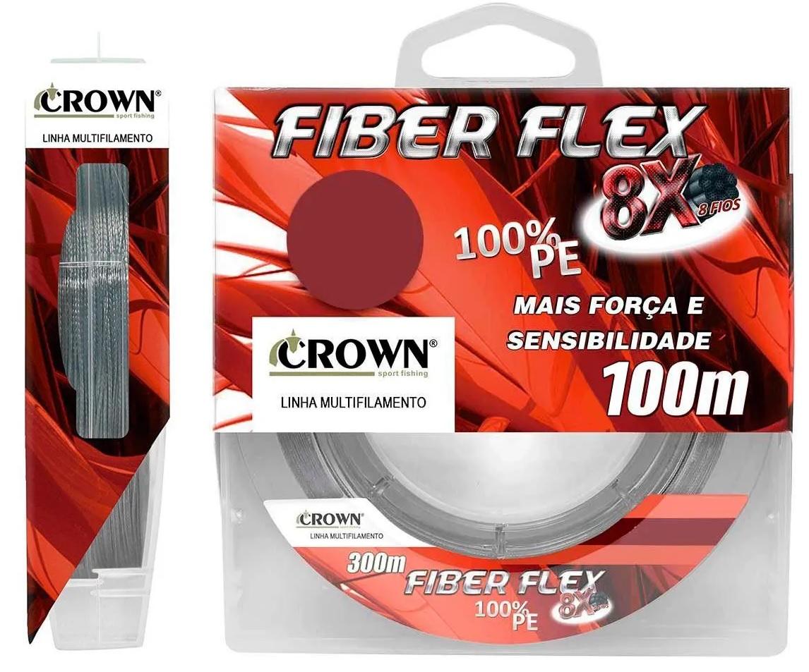 Linha Crown Multifilamento Fiber Flex 8X 100m