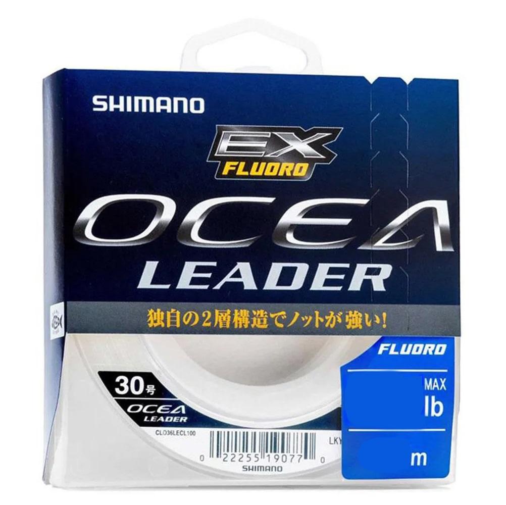 Linha de Pesca Fluocarbono Shimano Ocea Leader 50 Metros Branca