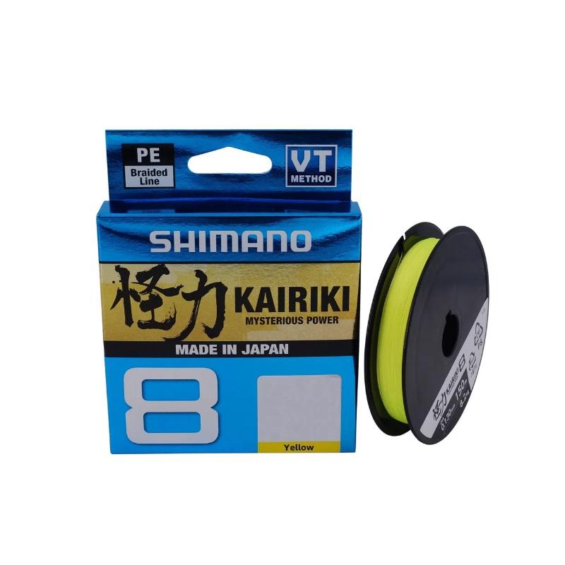 Linha de Pesca Shimano Multifilamento Kairiki 8 PL 150m Amarela - 20LB 0,23mm