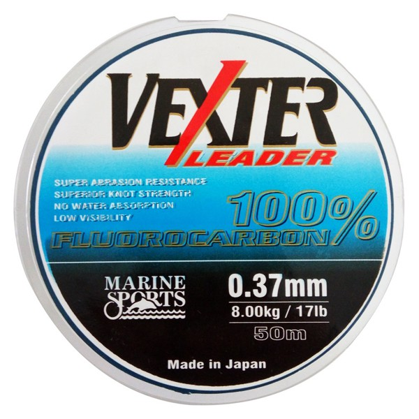 Linha Marine Sports Fluorcarbono Vexter Leader 50m