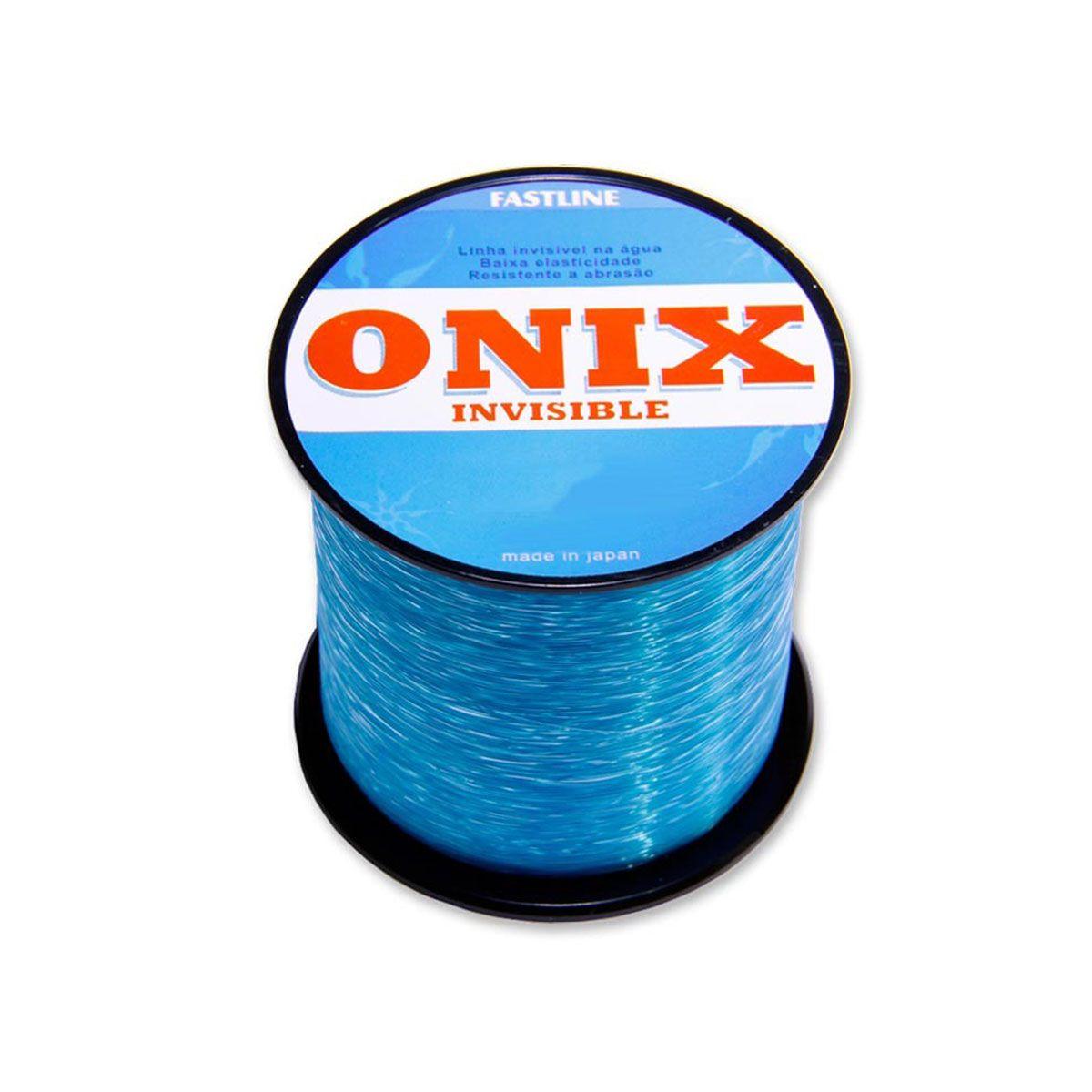Linha Monofilamento Fastline Onix Invisible 500M Azul Espessura: 0,405MM  Libragem: 36LB