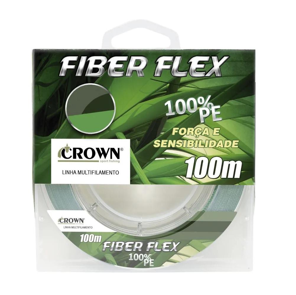 Linha Multifilamento Crown Fiber Flex Verde 100 Metros