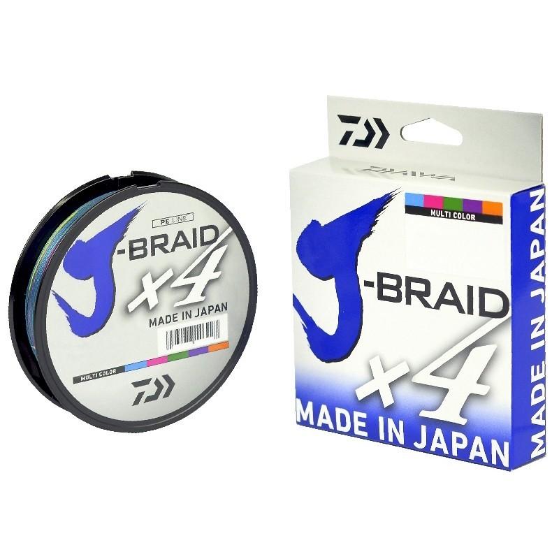 Linha Multifilamento Daiwa J-Braid X4 300m/330yd Multi Color