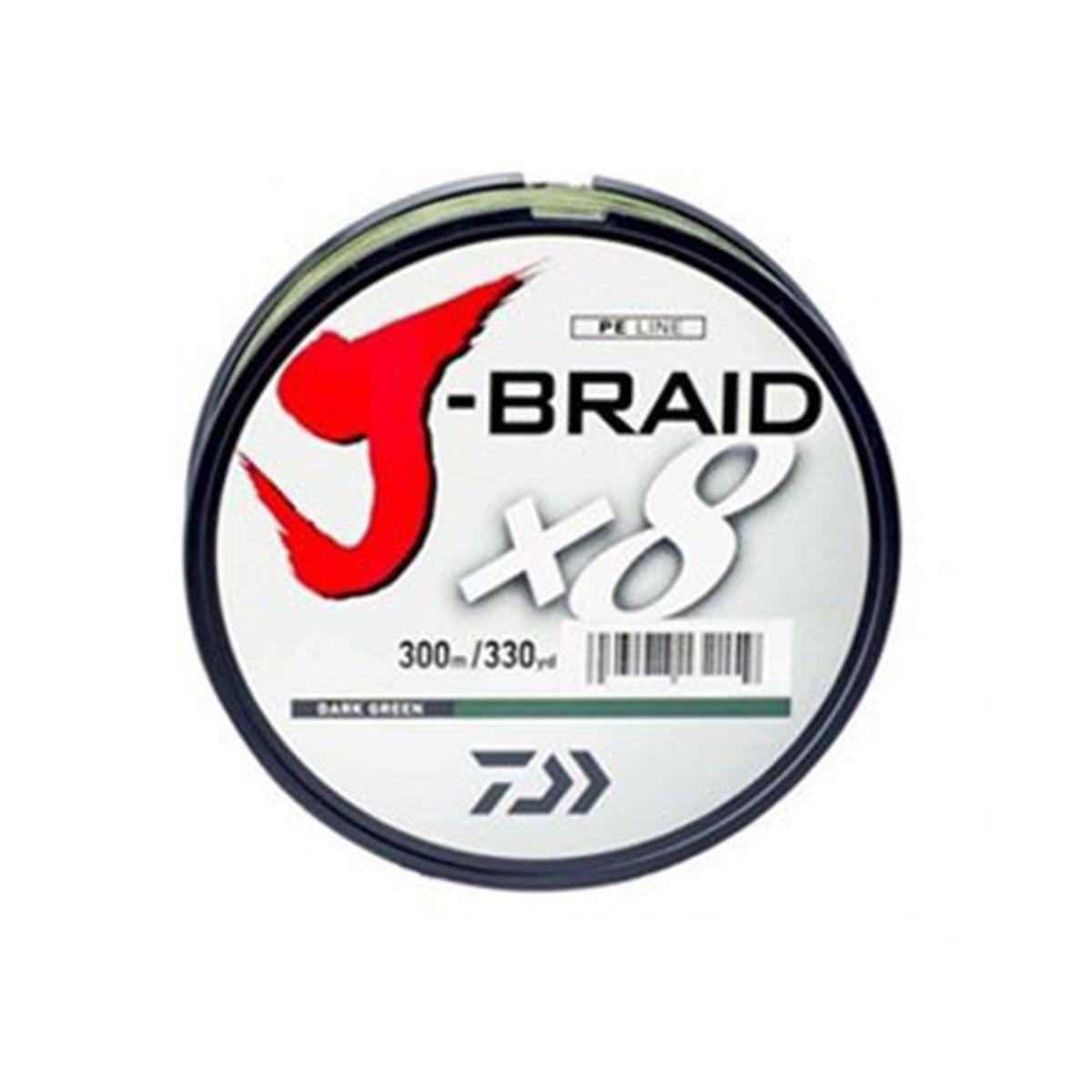 Linha Daiwa Multifilamento J-Braid Verde Escuro 8X 330m/330yd