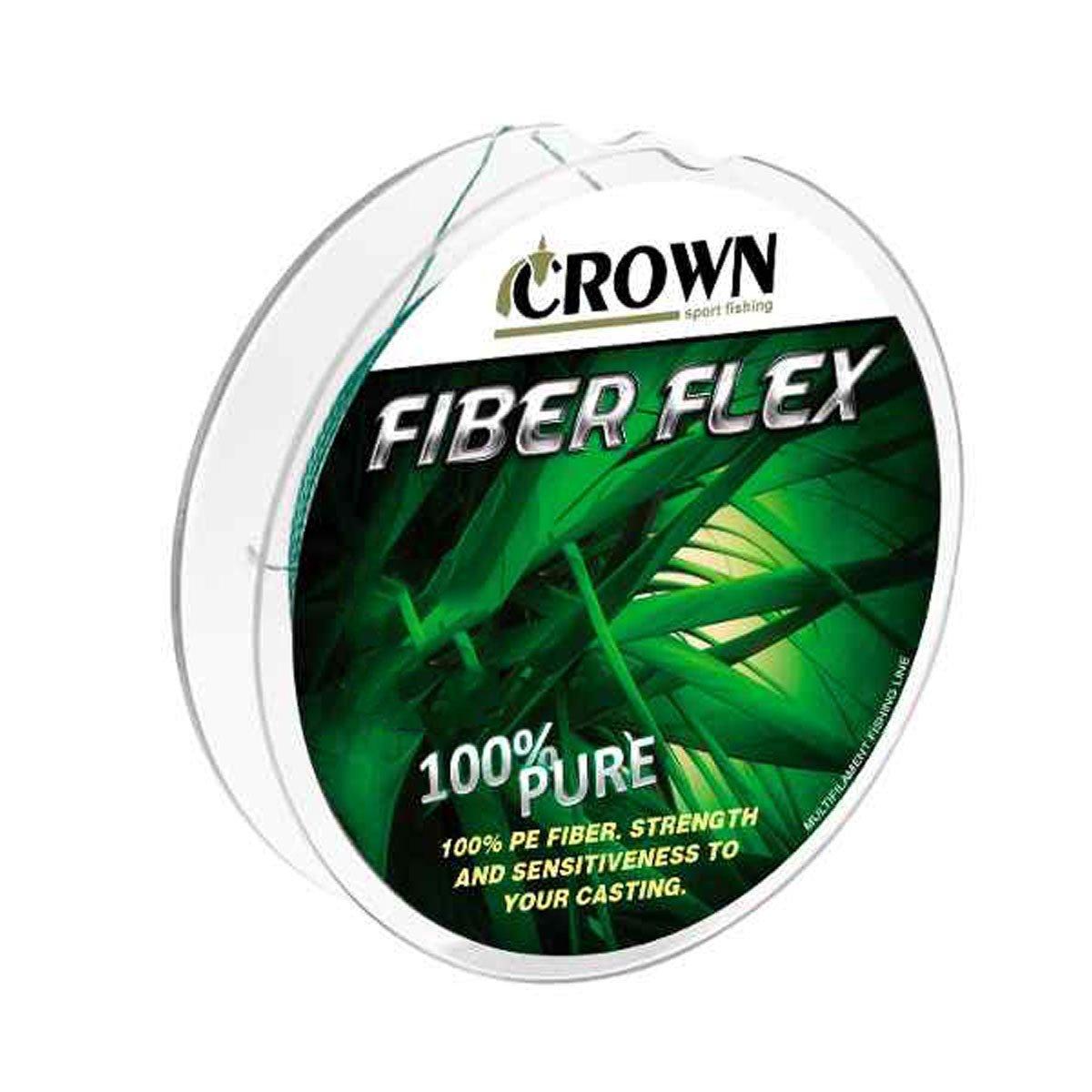 Linha Crown Multifilamento Fiber Flex Verde 4X 100m