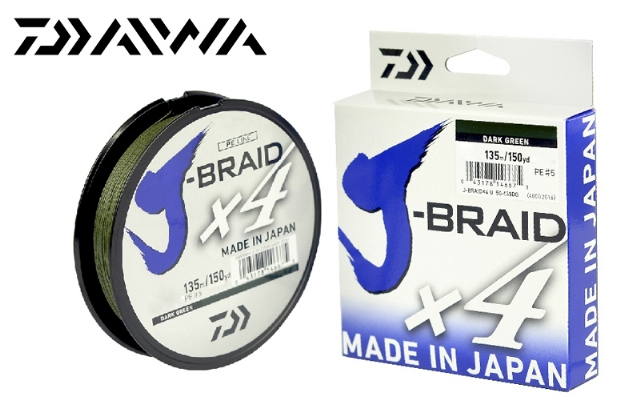 Linha para Pesca Daiwa DW J-BRAID X4U Drarkgreen - 135m