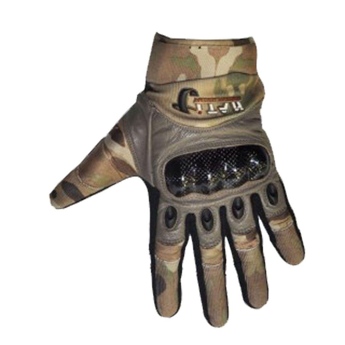Luva de Airsoft Titan Multicam Dedos Inteiros