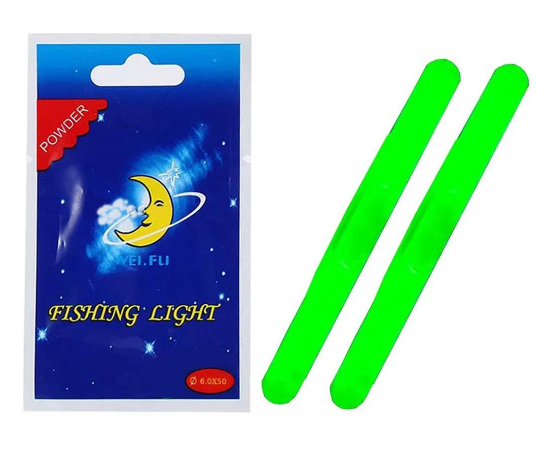 Luz Química Fishing Light Verde 6,0 x 50mm - 2 Unidades