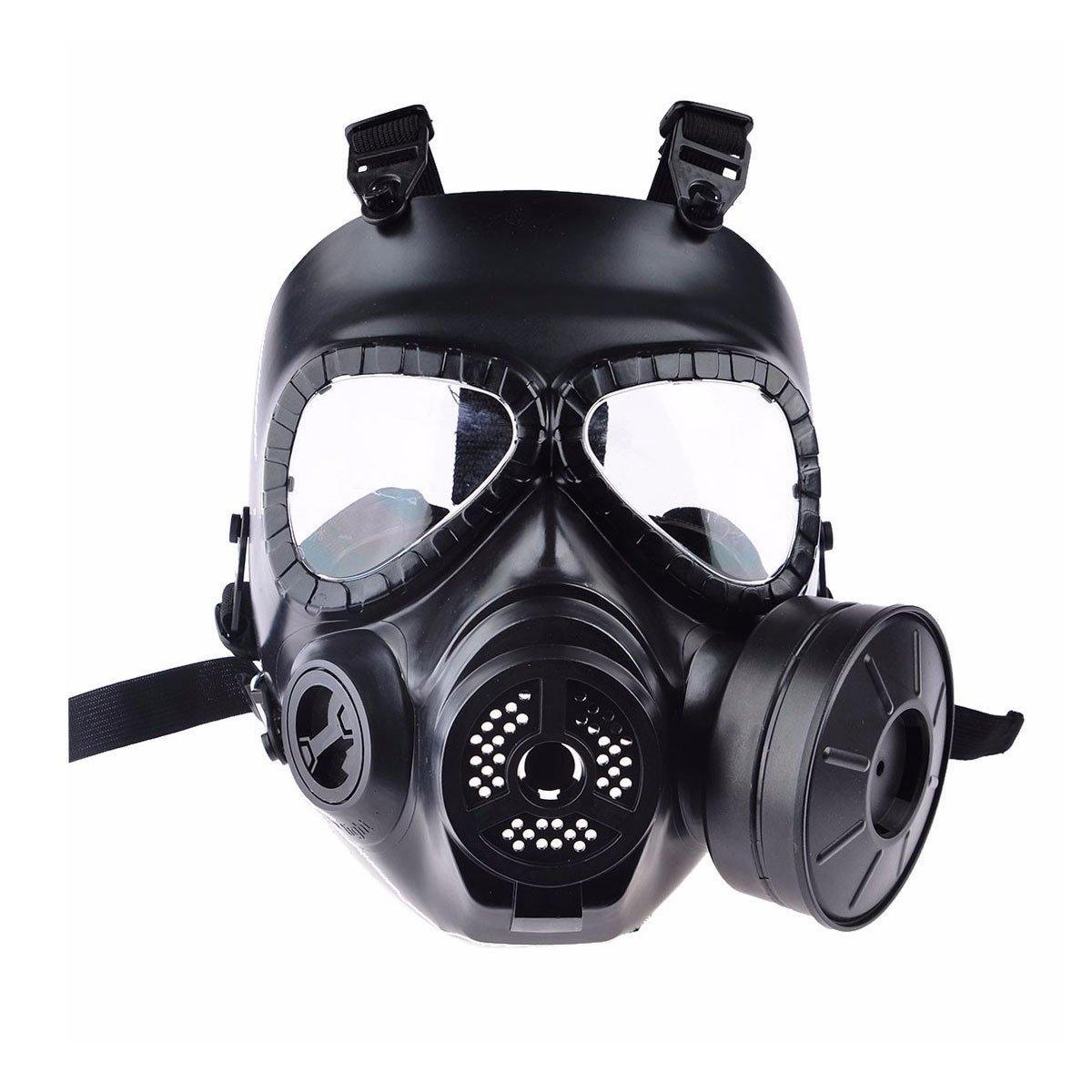 Mascara de Airsoft Anti Gas com Ventoinha FMA Preta