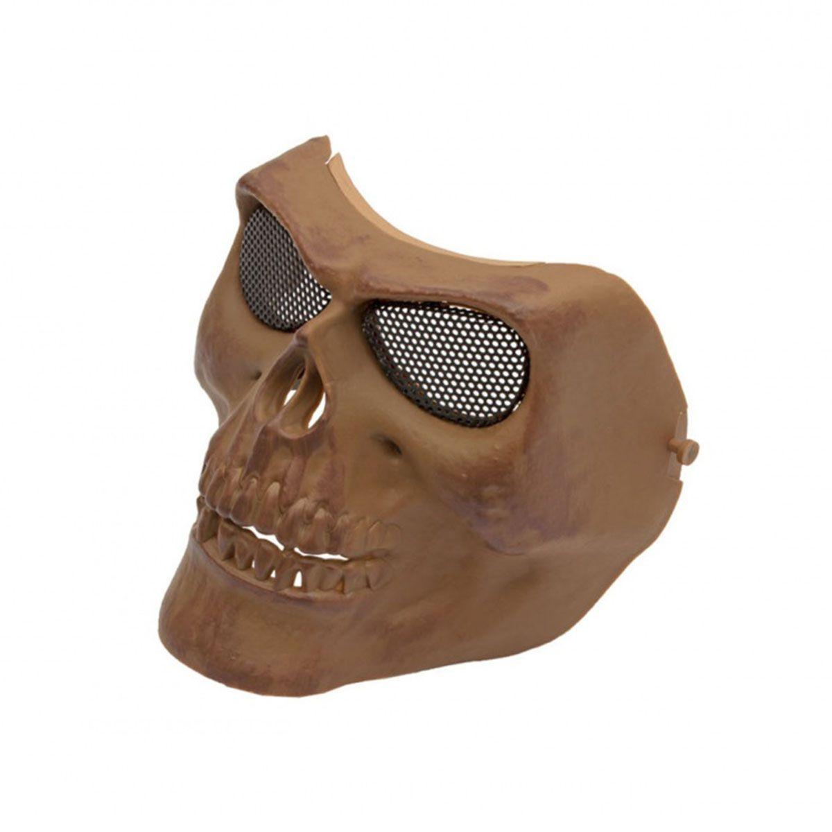 Máscara de Proteção Caveira com Tela - Tan