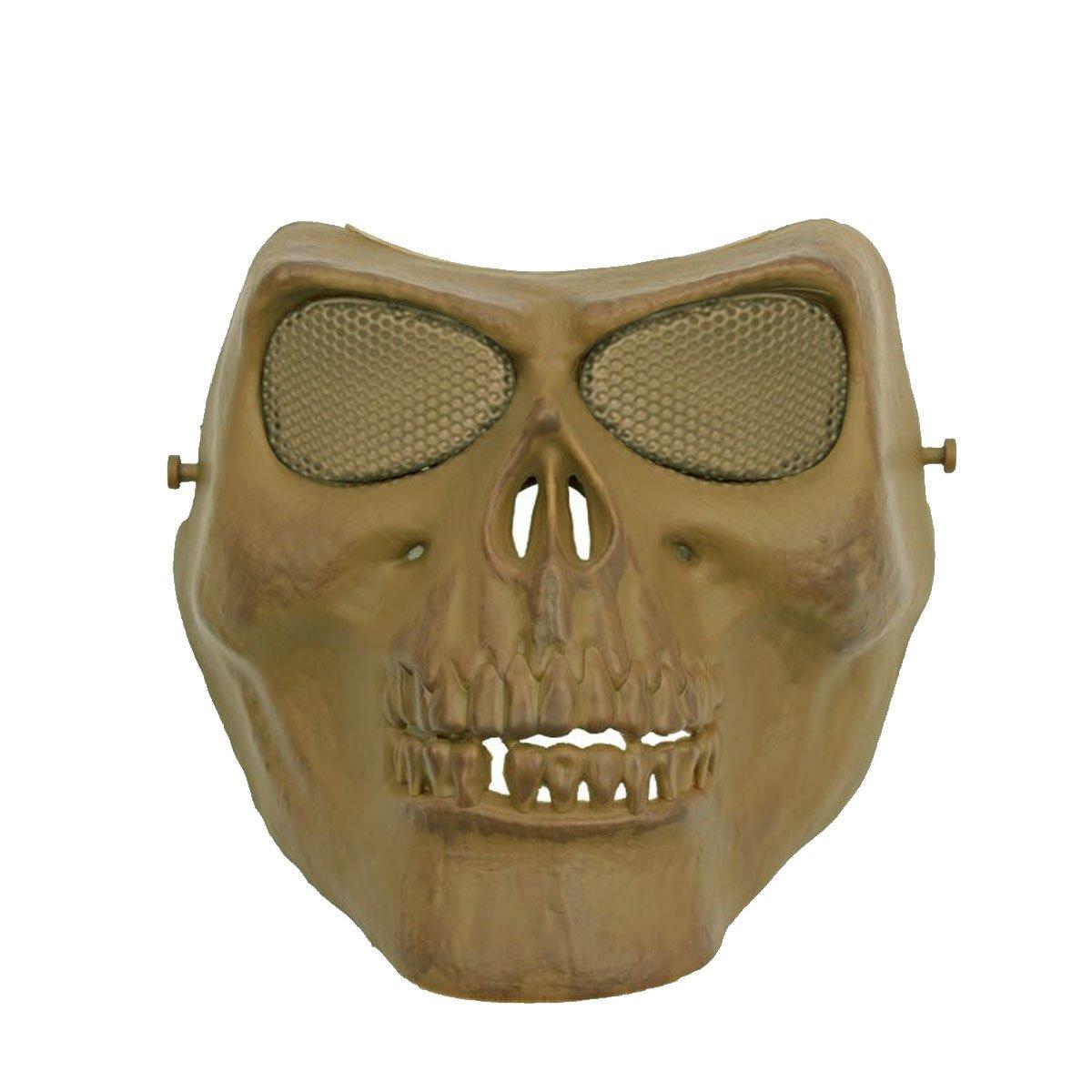 Mascara de Proteção SRC Caveira Malha metalica Tan