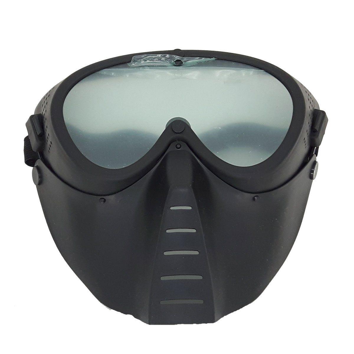 Máscara Tática de Policarbonato Preto HY001S