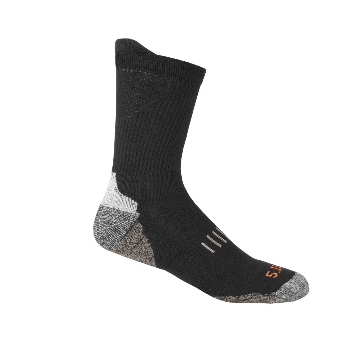 Meia Year Round Crew Sock Black L/XL 5.11 Tactical