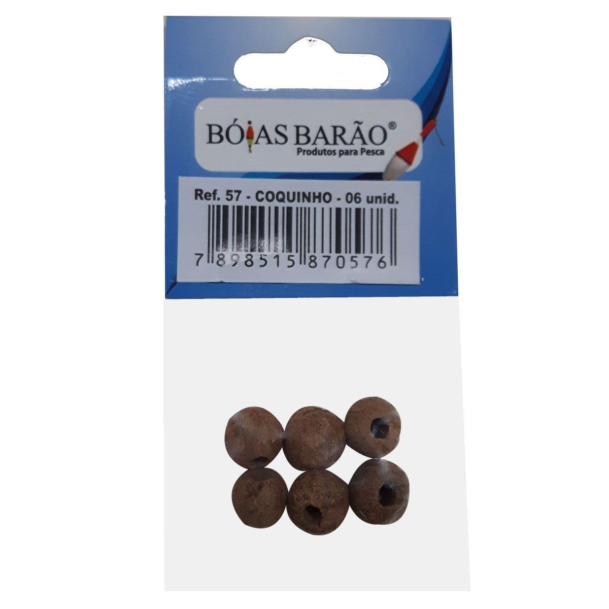 Miçanga Bóias Barão Coquinho Natural N57 6 Unidades