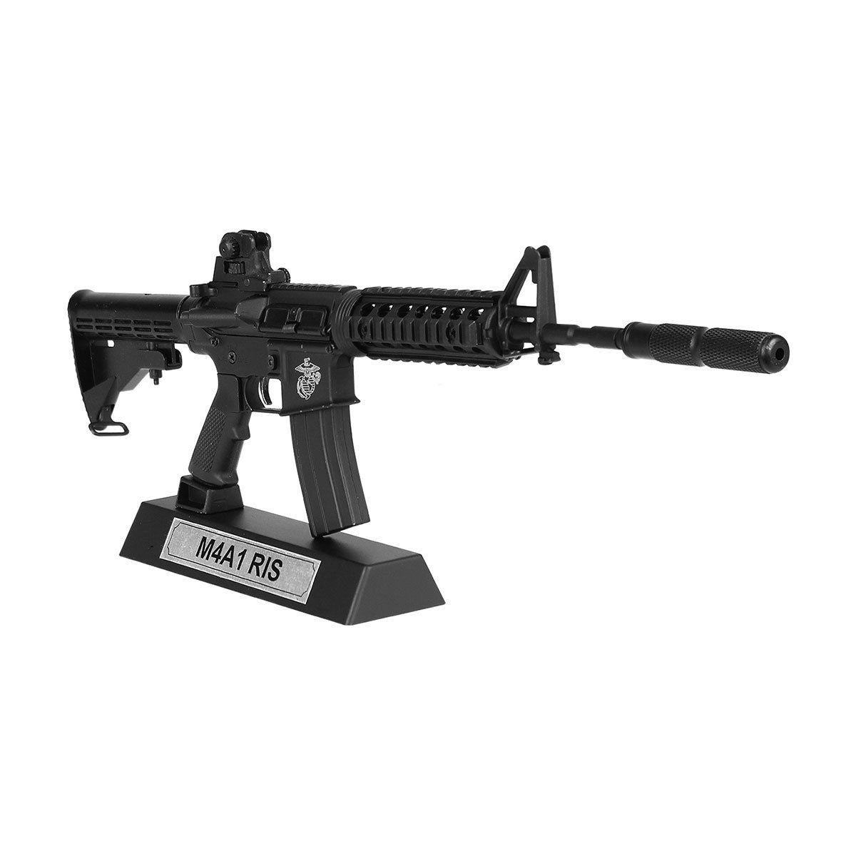 Miniatura Rifle M4A1 RIS Black em Metal