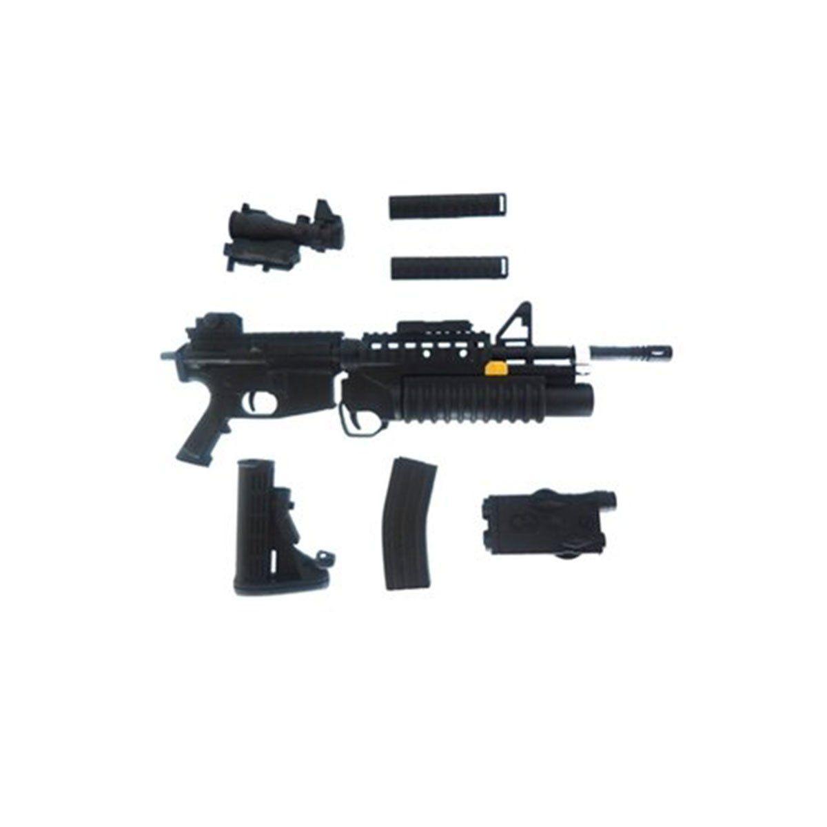 Miniatura Arma de Guerra 14CM Preta