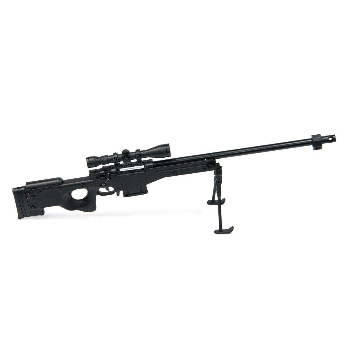 Miniatura Arma L96-black Modelo Metal - Arsenal Gun 30 Cm
