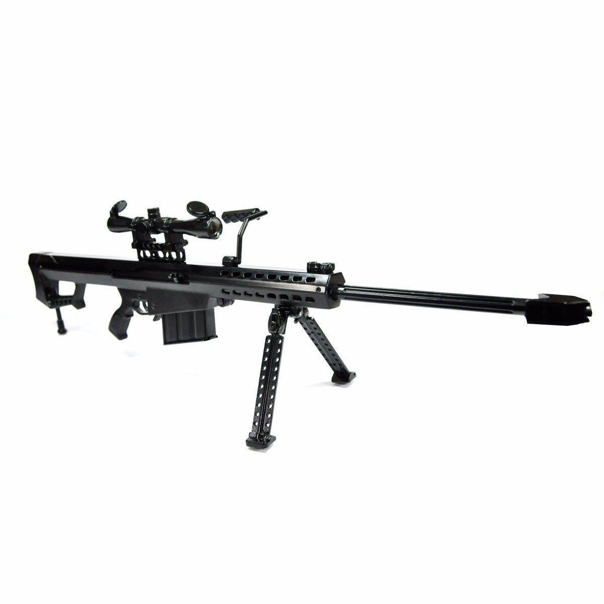 Miniatura De Arma Barret M82A1 Preta 65cm