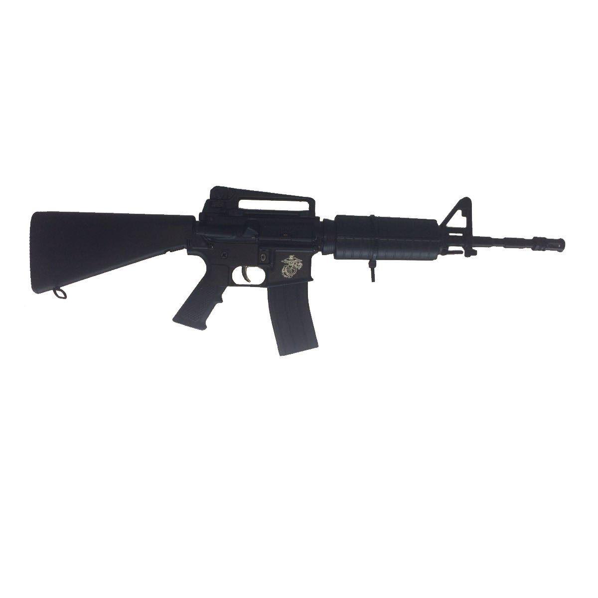 Miniatura de Arma M16 30cm para Colecionador com Base