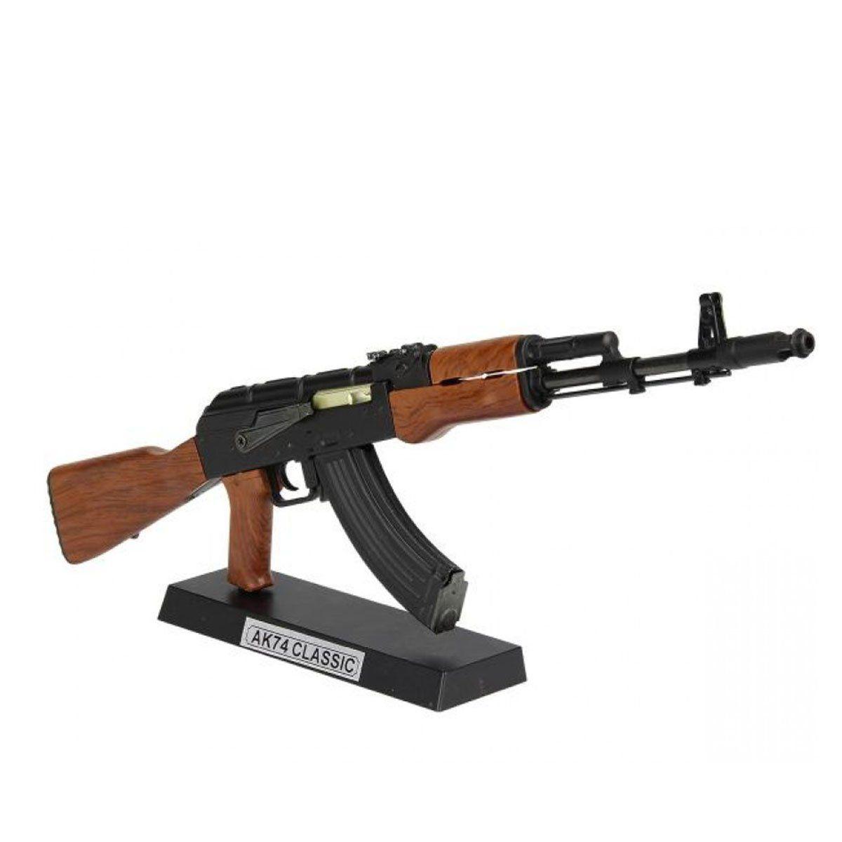 Miniatura Rifle  AK47 Classica  Simulacao madeira  30CM