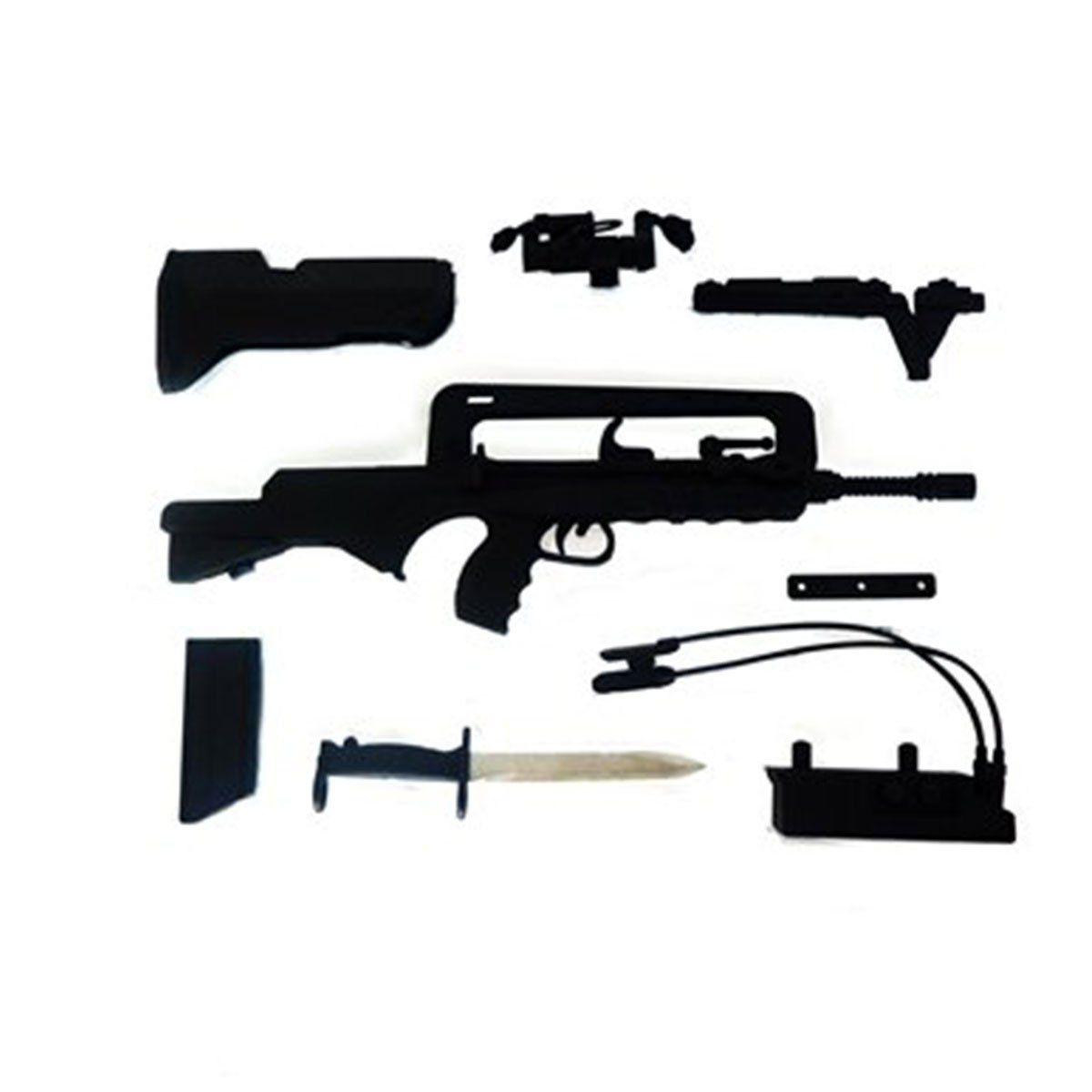 Miniatura Rifle Famas Preta 16 cm