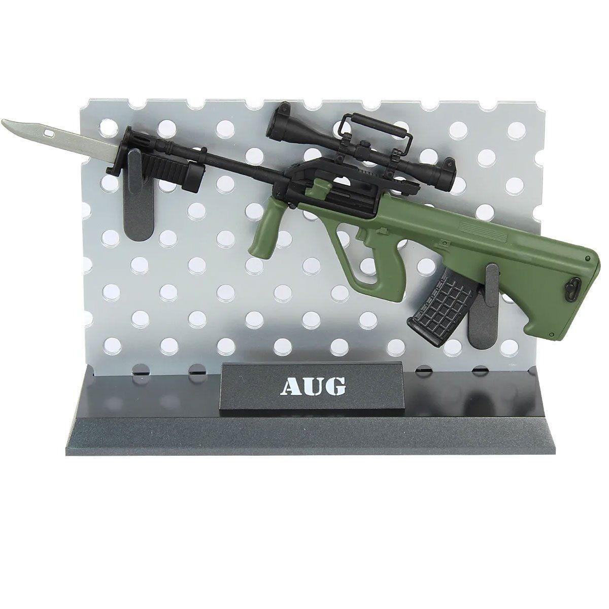 Miniatura de Arma Rifle  Steyr AUG Oliva Com Faca Arsenal Guns