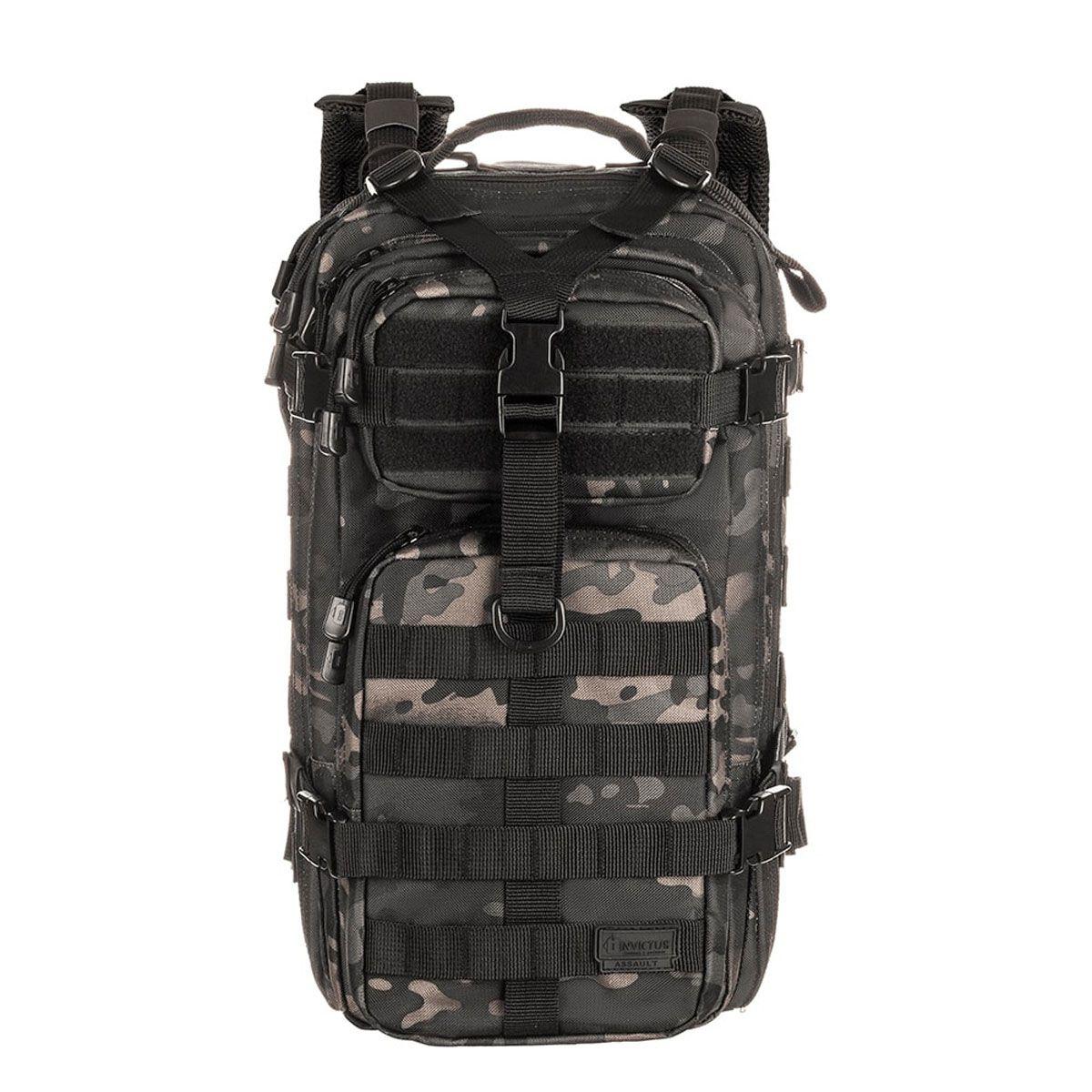 Mochila Militar Assault Camuflada Multicam Warskin Black