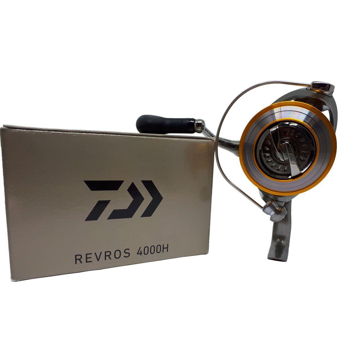 Molinete Daiwa Revros REV4000H Fricção Diant 8 Rols
