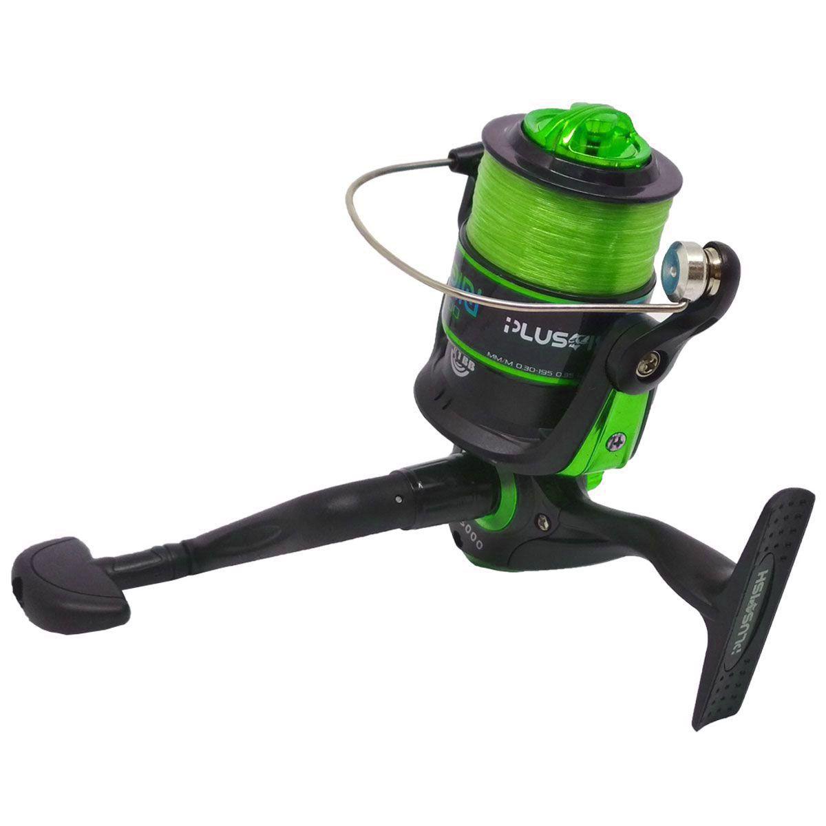 Molinete Plusfish Spin 3000 1 Rol 5.2:1 Verde