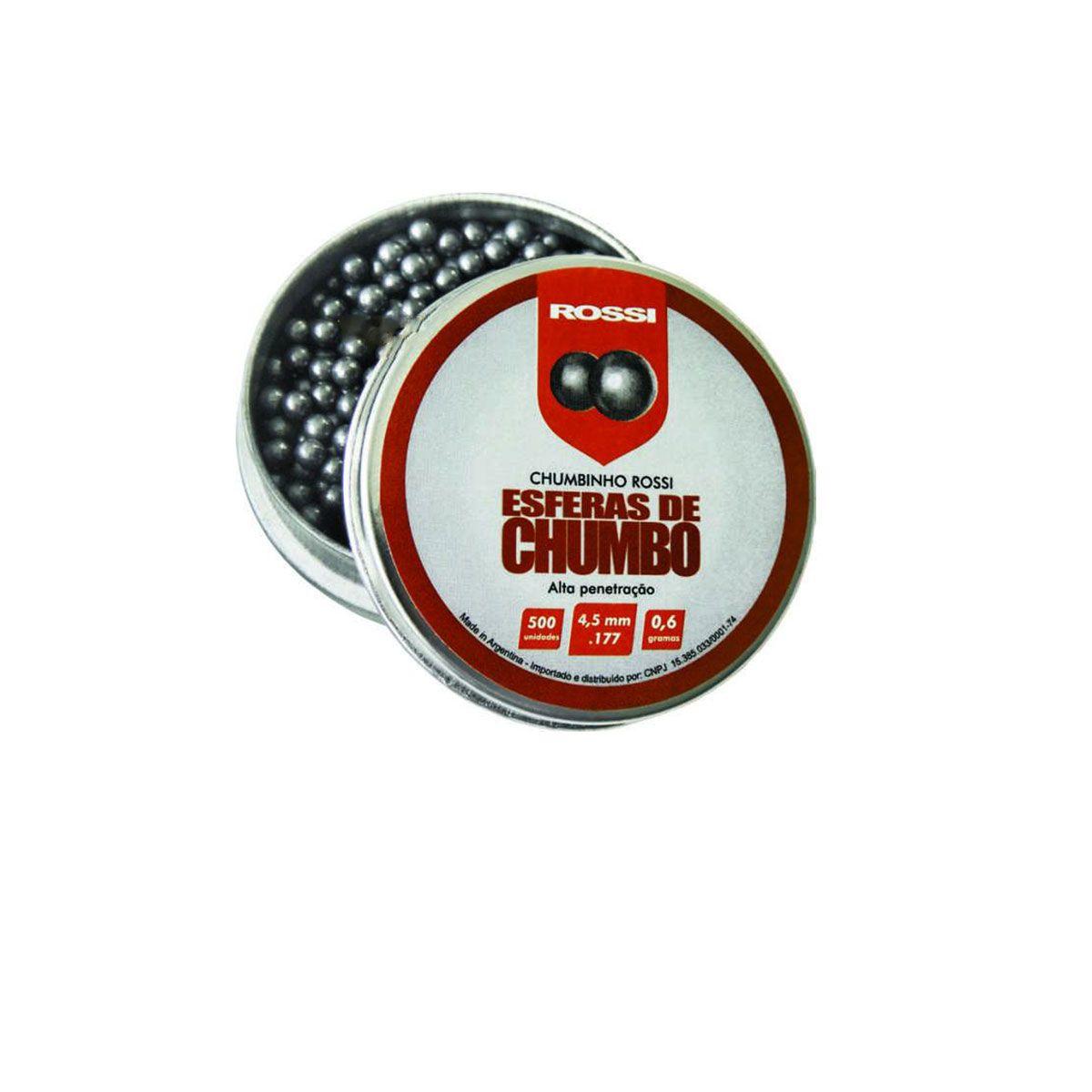 Munição/Esferas BBs de Chumbo Rossi 4,5mm (500UN)