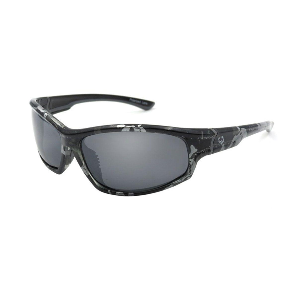 Óculos Polarizado Pro Tsuri Skull Armação Caveira Lente Grey Mirror