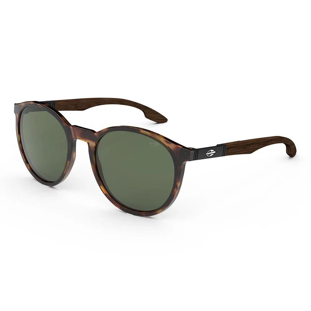 Oculos Sol Mormaii Maui Wood Demi Brilho Madeira