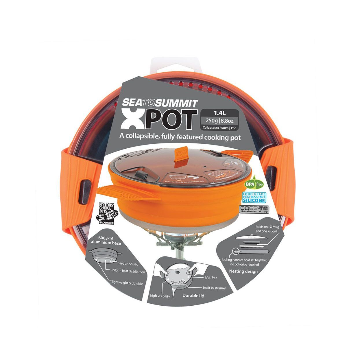 Panela Nautika X-Pot 1,4L Laranja