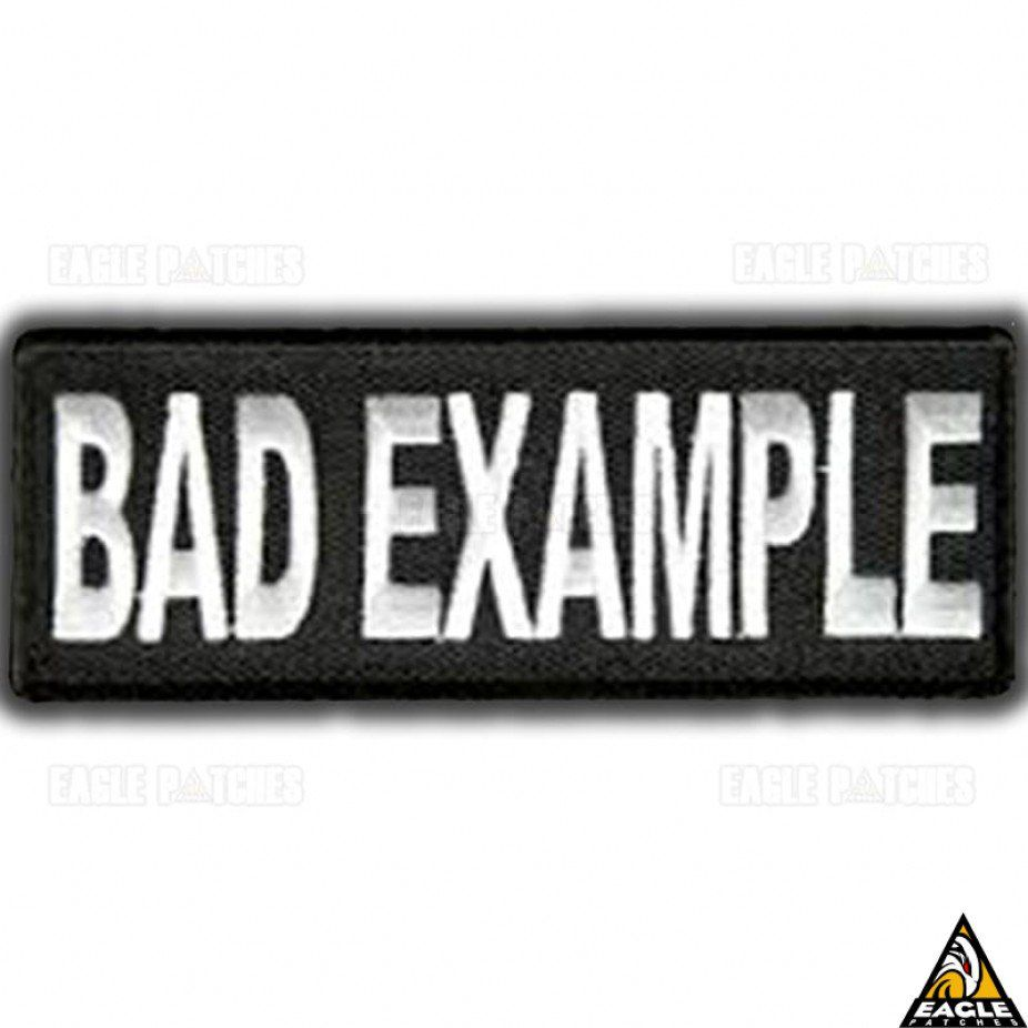 Patch Eagle Patches Bordado Bad Example - 3cm